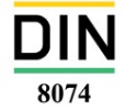 استاندارد DIN 8074 مشخصات ابعادی لوله های پلی اتیلن