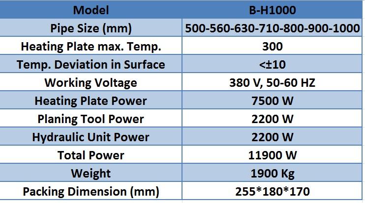 دستگاه جوش ١٠٠٠ هیدرولیک بارینکو